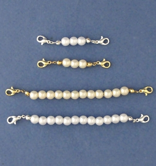FAUX PEARL NECKLACE EXTENSIONS - ONLY SHORT GOLD AND SHORT SILVER AVAILABLE