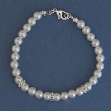 NINA FAUX PEARL WEDDING BRACELET