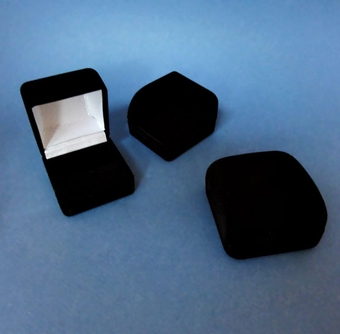 VELOUR RING BOX - ONLY SMALLER BOX REMAINING