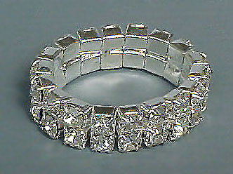 TWO STRAND CRYSTAL RING