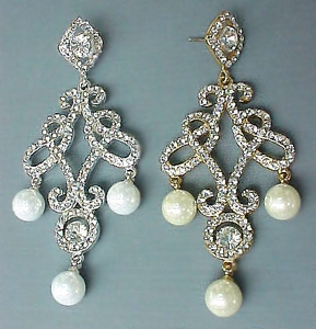 MOLITO FAUX PEARL WEDDING EARRINGS
