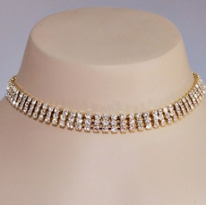 SQUARED OFF GOLD CHOKER SET<br><center>ONE SET REMAINING</center>