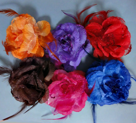 Spring flower silk hair accessory or pin for your bridesmaids spring flower silk flower pins mightylinksfo