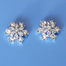 HONEYS CHOICE SNOWFLAKE CRYSTAL EARRINGS - SOLD OUT
