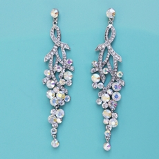 BEAUTY 101 CHANDELIER CLEAR-AB EARRINGS