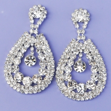 DEBONAIR RHINESTONE <BR>CHANDELIER EARRINGS