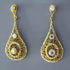 CATHEDRAL CHANDELIER GOLD EARRINGS