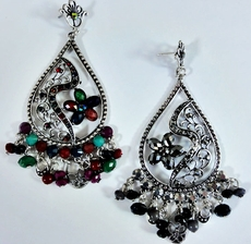 AZTEC BEADED EARRINGS