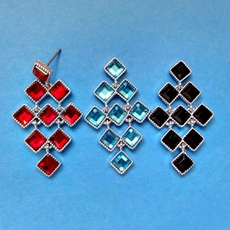 TILE TEASER EARRINGS - SOLD OUT OF RED