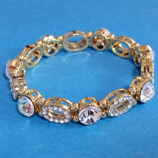 INTRIQUE GOLD RHINESTONE BRACELET