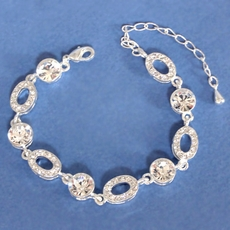 INTRIQUE SILVER RHINESTONE BRACELET - SOLD OUT