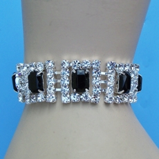 DONT' FENCE ME IN BLACK RHINESTONE BRACELET