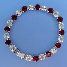 LUXURY RED-CLEAR RHINESTONE BRACELET