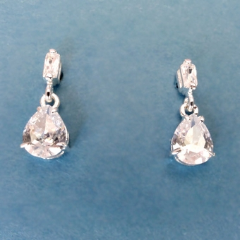 PEAR PIZZAZZ  CZ EARRINGS - SOLD OUT
