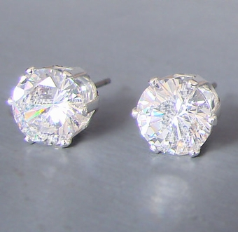 DIVA  CUBIC ZIRCONIA STUD EARRINGS
