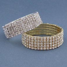POWER ELASTIC RHINESTONE BRACELET - ONE REMAINING SILVER SET; SOLD OUT OF GOLD