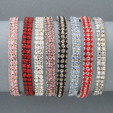 DOUBLE ROW  ELASTIC CRYSTAL BRACELET