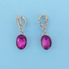FANCY FUCHSIA CRYSTAL EARRINGS