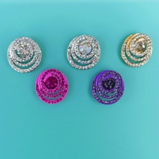 BIP BOP RHINESTONE CIRCULAR EARRINGS