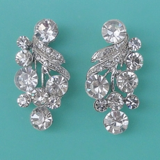 RACHEL CLEAR <br>RHINESTONE EARRINGS