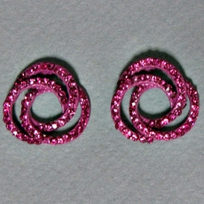 FUCHSIA RHINESTONE CIRCLE EARRINGS<BR>LIMITED SUPPLY