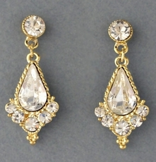 RITZ GOLD CRYSTAL EARRINGS