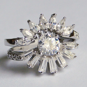 DAZZLING DAISY CZ RING<br>size