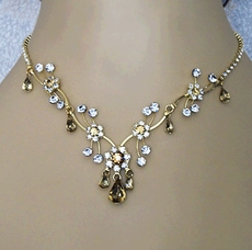 SOFIA TOPAZ BRIDESMAID RHINESTONE JEWELRY SET