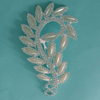 PEARLY SWIRL FAUX PEARL HAIRCOMB