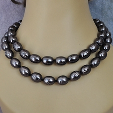 VINTAGE ESTATE BLACK PEARLETTE JEWELRY - NECKLACE