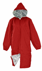 Adoretex Pile Fur Lining Swim Parka Red/Gray