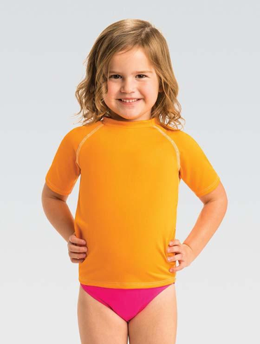 Little Dolfins Orange Rashguard