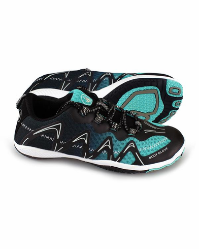 BodyGlove WOMEN'S DYNAMO SPRY WATER SHOES - BLACK/BLUE RADIANCE
