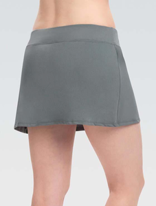 Womens AQUASHAPE Solid Gray A-Line Swim Skirt 2020