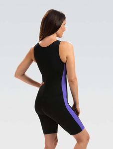 Dolfin AquaTard Black-Purple Zip Front