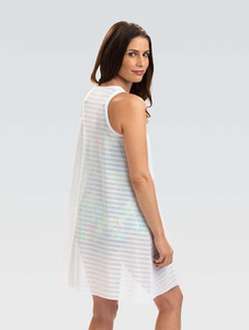 White Sleeveless V-Neck Cover-Up