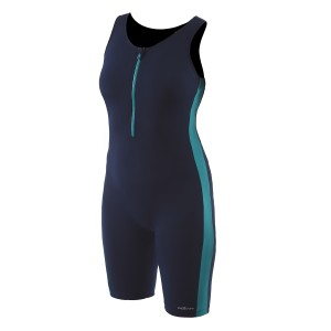 Dolfin AquaTard Front-Zip Navy/Teal