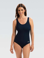 Womens AQUASHAPE Navy Moderate Scoop Back One Piece Suit
