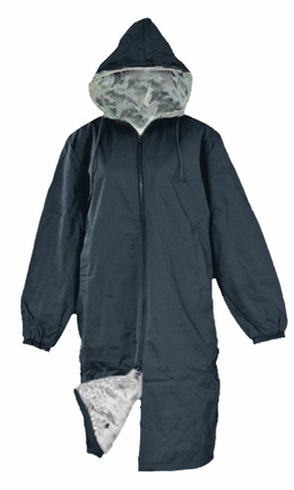 Adoretex Pile Fur Lining Swim Parka Navy/Gray