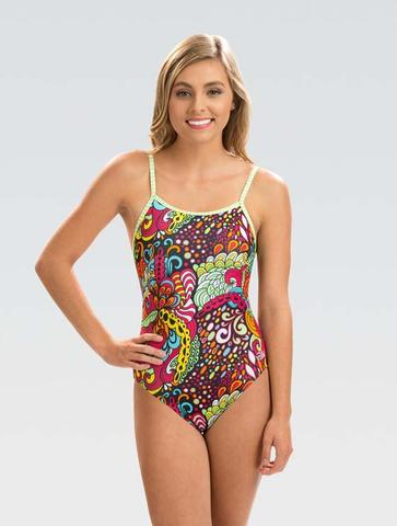 Womens Uglies Looking Glass Double Strap Back One Piece