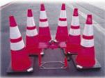 Set of 6 Collapsible Traffic Cones