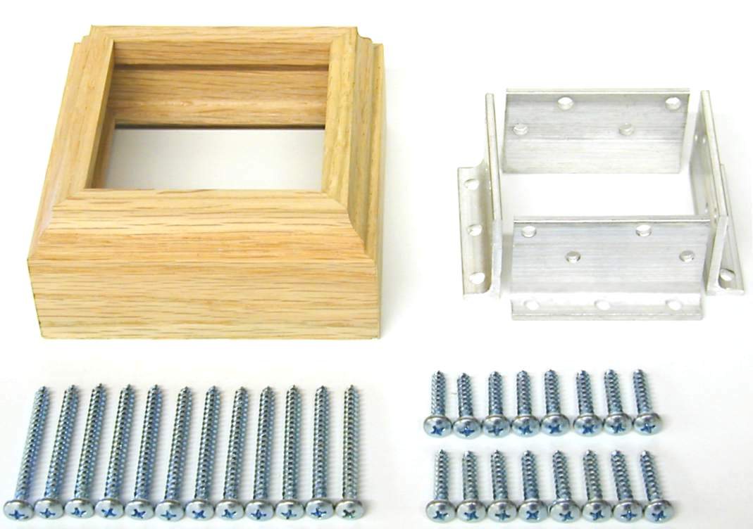 3019 L Bracket Newel Mounting Kit 4075 Fluted Solid 3 1