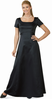 SEPA Chorale Dress<br>Black Satin Gowns for Choir Performers