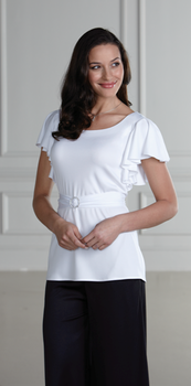 Neoclassic<br>Knit Flutter Sleeve Tunic