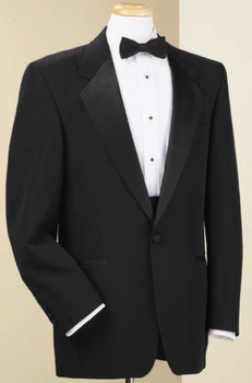 Classic Notch Lapel Black Tuxedo Coat