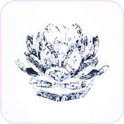 Crystal Candle Holder (Lotus)