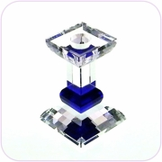 Crystal Candle Holder (Blue Square)