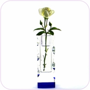 Crystal Vase (Large Blue)