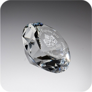 Crystal Diamond Paperweight