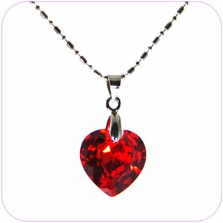 Crystal Necklace (Red Heart)